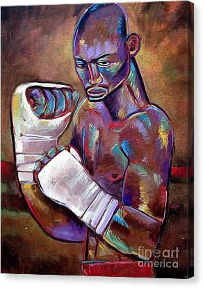 Mystery Boxer Canvas Print