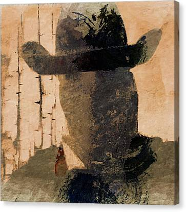 Canvas Print featuring the photograph Mysterious Cowboy  by Aaron Berg