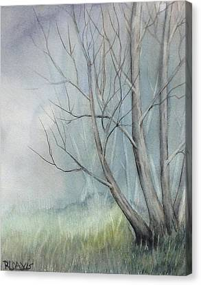 Canvas Print featuring the painting Mystery Forest by Rebecca Davis