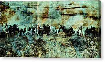 Mystery Herd Canvas Print by Judy Wood