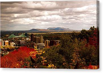 Mystery In Fall In Montreal Canvas Print by Jocelyne Choquette