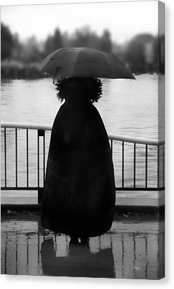 Canvas Print featuring the photograph Lady At The Lake by Aaron Berg