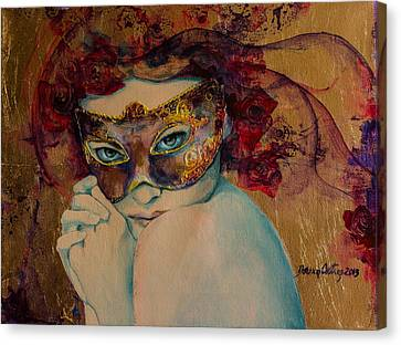 Mystery Roses Canvas Print by Dorina  Costras