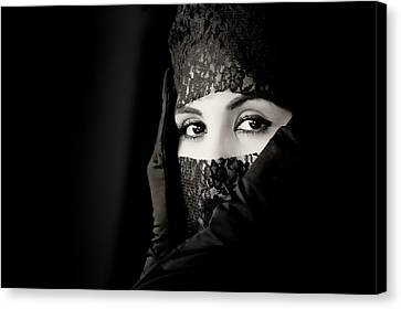 Mystery That Is Woman Canvas Print by Hugh Smith