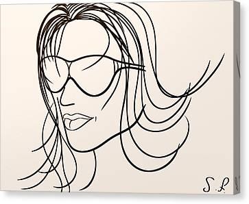 Mystery Woman Canvas Print by Sotiris Filippou