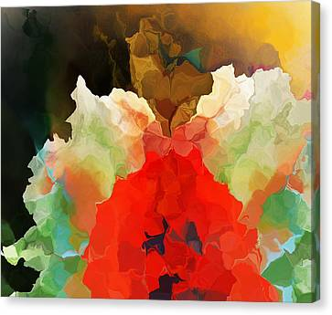 Canvas Print featuring the digital art Mystic Bloom by David Lane