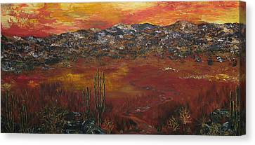 Mystic Desert Canvas Print by Linda Eversole