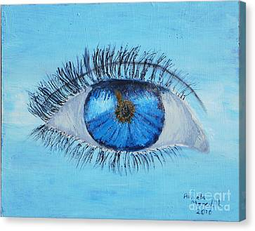 Canvas Print featuring the painting Mystic Eye by Pamela  Meredith