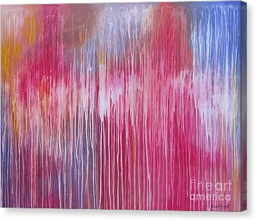 Canvas Print featuring the painting Mystic Forest by Nereida Rodriguez