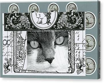 Ephemera Canvas Print - Mystic Kitten by Stan Askew