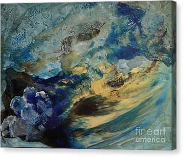 Mystic Lake Canvas Print by Valia US