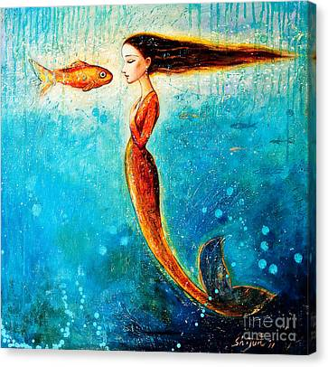Mystic Mermaid II Canvas Print by Shijun Munns