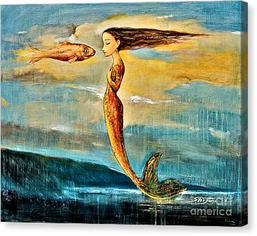 Mystic Mermaid IIi Canvas Print by Shijun Munns