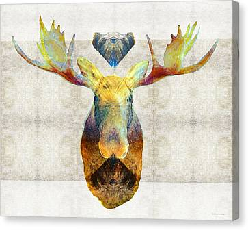 Mystic Moose Art By Sharon Cummings Canvas Print