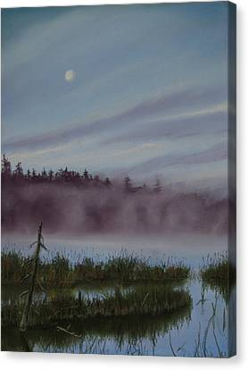 Mystic Morning Canvas Print by Kathy Dolan