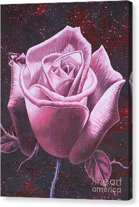 Mystic Rose Canvas Print by Vivien Rhyan