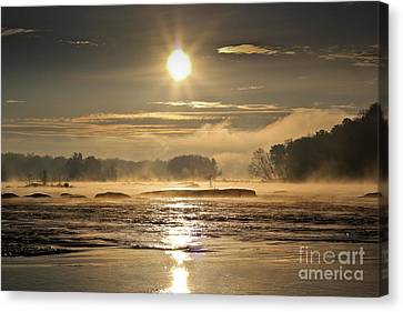 Canvas Print featuring the photograph Mystic Shores by Everett Houser
