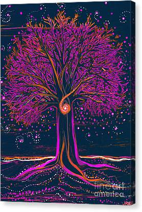 Mystic Spiral Tree 1 Pink By Jrr Canvas Print by First Star Art