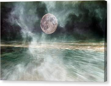 Mystical Beach Moon Canvas Print by Betsy Knapp
