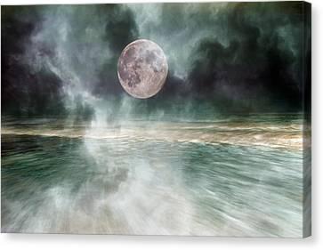 Mystical Beach Moon Canvas Print by Betsy C Knapp