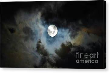 Mystical Clouds Canvas Print by Angela J Wright