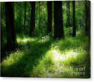 Mystical Forest Canvas Print by Lorraine Heath