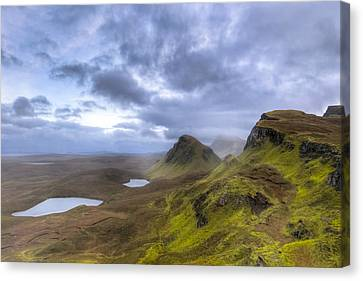 Mystical Landscape On Skye Canvas Print by Mark E Tisdale