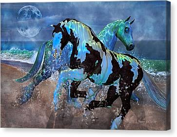 Mystical Midnight  Canvas Print by Betsy Knapp