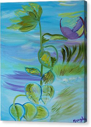 Canvas Print featuring the painting Mystical Moods by Meryl Goudey