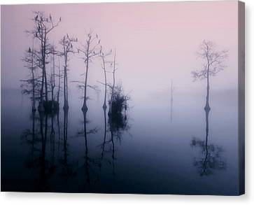 Mystical Morning On The Lake Canvas Print