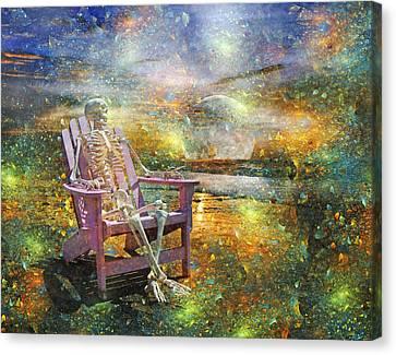 Mystical Sam On Topsail Canvas Print by Betsy C Knapp