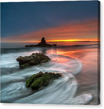 Stacked Canvas Print - Mystical Sunset 2 by Larry Marshall