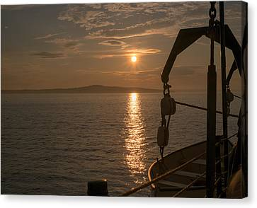 Sunset On Bar Harbor Canvas Print by Pro Shutterblade