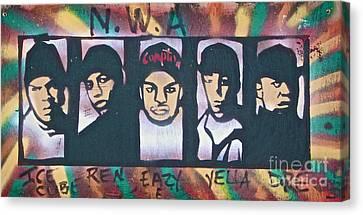 N W A Canvas Print by Tony B Conscious