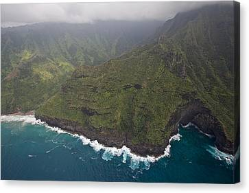 Oak Harbor Canvas Print - Na Pali Kauai by Steven Lapkin
