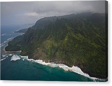 Oak Harbor Canvas Print - Na Pali Shore Kauai by Steven Lapkin