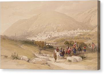Nablous   Ancient Shechem Canvas Print