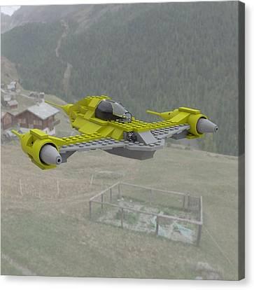Naboo N1 In Flight Canvas Print by John Hoagland