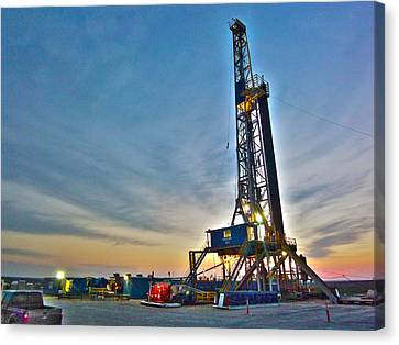 Canvas Print featuring the photograph Nabors Rig In West Texas by Lanita Williams