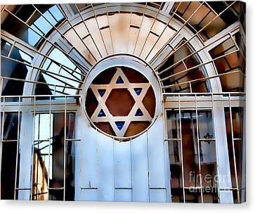 Nachlaot Synagogue Canvas Print by Elena Comens