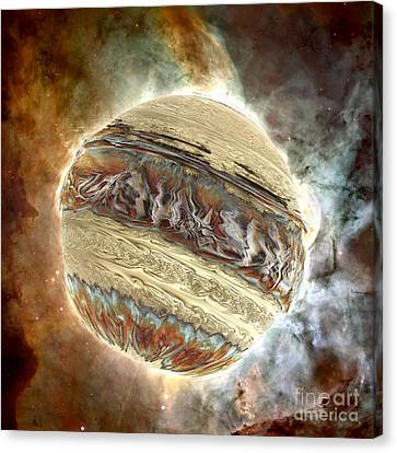 Nacre Planet Canvas Print by Bernard MICHEL
