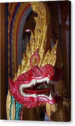 Naga - Wat Chalong - Phuket Thailand - 01131 Canvas Print by DC Photographer