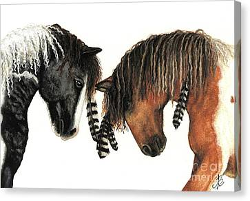 Mustang Series 37 Canvas Print by AmyLyn Bihrle