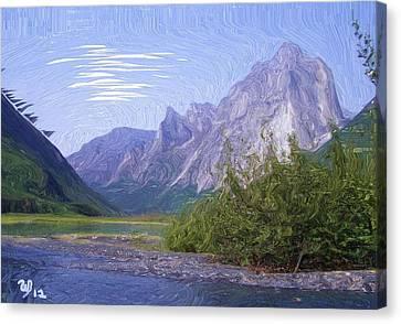 Nahanni Valley Canvas Print by Wayne Bonney