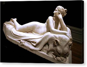 Canvas Print featuring the photograph Canova's Naiad by Cora Wandel