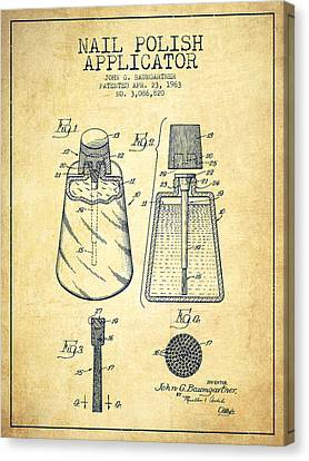 Nail Polish Applicator Patent From 1963 - Vintage Canvas Print by Aged Pixel