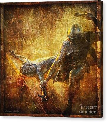 Crucifixion Canvas Print - Nailed To The Cross Via Dolorosa 11 by Lianne Schneider