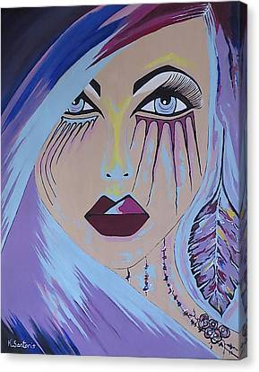 Canvas Print featuring the painting Naira by Kathleen Sartoris