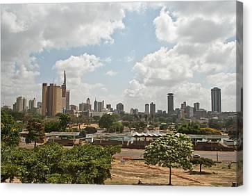 Nairobi Panorama Canvas Print by Mesha Zelkovich