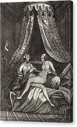 Naked Women, 17th Century Artwork Canvas Print